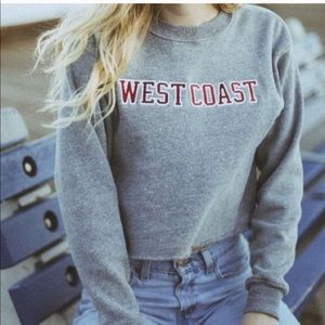 Brandy Melville West Coast Cropped Sweatshirt OS